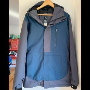 Pulse hooded snow jacket. Size M. Blue/gray